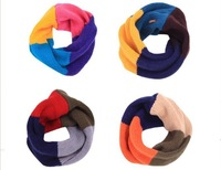 Cute Baby Kid children Unisex Knit rainbow colors cube Scarf neckerchief Warm 4 colors (WJ24)
