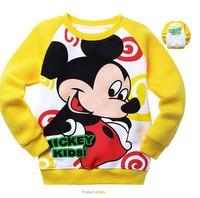 Children's clothing 100% MINNIE o-neck cotton print sweatshirt t-shirt