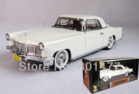 1956 Lincoln Continental Mark II Vintage Car Vehicle Model White 1:18 Diecast Metal SB10,free shipping
