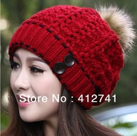 Female korean fashion warm kniting hat woolen caps autumn and winter cap thick warm beanie women caps