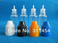 100pcs/lot 10ml PET plastic needle dropper bottles with childproof caps, 10ml long thin needle tips dropper bottles 10ml