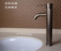 Fashion Classic antique copper Bathroom basin sink faucet.hot and cold mixer tap 1pcs/lot  (Free 2pcs hose)