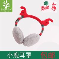 Kk child ear protector christmas red gift small elk thermal earmuffs