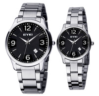 Lovers' High Quality Quartz Watch For Women For Men Stainless Steel Wristwatch Free shipping