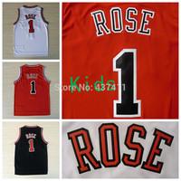Rose Kids Jerseys , Chicago #1 Derrick Rose White Red Black Rev 30 Basketball Jersey For Kids ,Size: S-XL,Free Shipping