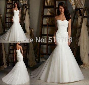 Бесплатная доставка сексуальный русалка без бретелек узелок белый кот тюль свадебное платье свадебное платье размер 2 4 6 8 10 12 14 16 в наличии