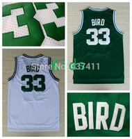Bird Kids Jerseys , Boston # 33 Larry Bird  White Green Rev 30 Youth Basketball Jersey ,Size: S-XL ,Free Shipping