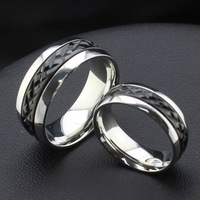 wholesale  stainless steel  rings jewelry  for man and women black rings CR-007B