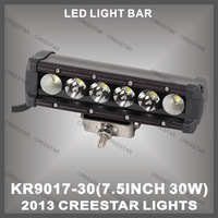 "High Intensity 7.5"" LED light, 30w CREE offroad led light bar 2100 lumen KR9017-30"