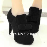 2013 new winter boots Elegant bowtie high heels