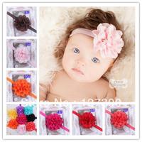 Free Shipping Infant Mesh Headbands Girl Flower Headbands Children Hair Accessories Newborn Flower Hairbands Photography Props