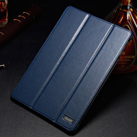 For iPad Air/iPad5 genuine leather case ,side-open ultrathin design cover,auto sleep function tablet cover,free shipping