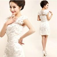 New Arrival Women Wedding Formal Dress Bride Lace Wedding Dresses Short Sheath Wedding Gowns Party Dresses