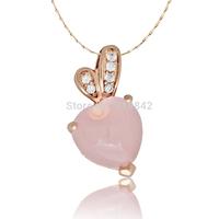 Free shipping 925 pure silver rose quartz pendant rabbit ears natural pink crystal belt identification certificate  Pendants