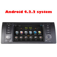 FREE SHIPPING 1Din 7'' Android 4.2 Touch Screen Car DVD Player for BMW E39 M5 X5 E53 3D UI PIP DVB-T GPS CANBUS BT Radio