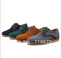 2013 new men, 100% natural leather, apartments, casual shoes, wedding party shoes, men leather shoes, free shipping