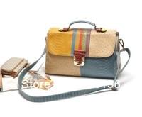 Tags new mutiple patterns colorful PU patchwork  fashion messenger bag  woman  handbags multipurpose cheap handbag FREE SHIPPING