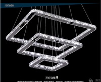 Brief crystal lamp living room lights modern led bedroom lights square restaurant pendant light crystal pendant light