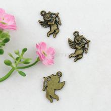 set of 50pcs 16*22mm angel antique bronze zinc alloy pendents charm drops DIY for Jewelry Making handicraft AY0373