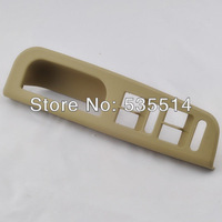 Beige Master Window Switch Control Panel Trim Bezel for VW Passat Jetta Golf MK4