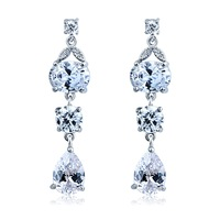 Wholesale Multicolor Swiss cubic zirconia Diamond Drop Earrings Jewelry For Woman Make with Swarovski Elements Accessories_00163
