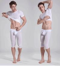 Hot Thermal Long Johns Men Sleepwear Thin Elastic Line Undershirt Sports Underwear Suit Tops & Bottoms Sleep Pants Warm Leggings(China (Mainland))