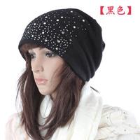Women's hat artificial rhinestone cap pile cap turban fashion hat cap
