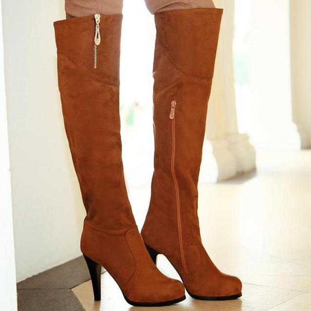 popular thigh high boots for plus size buy cheap