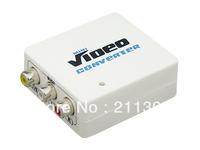 Fast shipping new kind  MINI AV to HDMI Converter Scaler 1080P small size converter