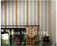 Mediterranean textile wallpaper blue Stripe bedding room  wedding house  living wall paper for rollswallpaper colored stripes