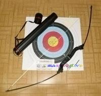 Hunting Archery Long Bow Aluminum handle Fiberglass Limb 40lbs Enhanced Horsebow+target sheet
