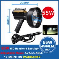 "55W HID 6"" Inch 150mm Handheld Hunting Fishing Spot Light Spotlight Work Offroad Outdoor Portable Spotlight Searchlight"
