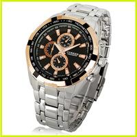 New Arrivals!!! Fashion Curren Brand Quartz Steel Business Dress Wrist Watch Large Dial for Man Women Free Shipping