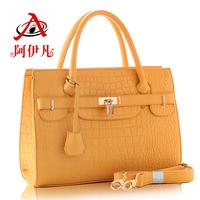2014 fashion bags crocodile pattern handbag women's ol shoulder bag women handbag messenger bag