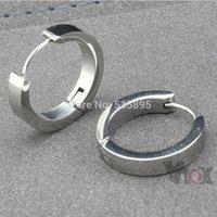Wholesale men&women earrings stainless steel big hoop Earrings