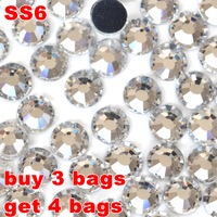 Free Shipping ,Better DMC Hotfix Rhinestone SS6 Size 1440pcs/bag White Clear Crystal Color DIY Hot Fix Stones