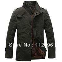 2013 New Arrival Korea Style Thicken Cotton Jacket, khaki\black\army green, Free Shipping MWJ111