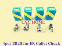 4pcs ER20, ER collet chuck holder, ER spring collet, chucks, cnc router bits, precision tapping collet, FREE Shipping