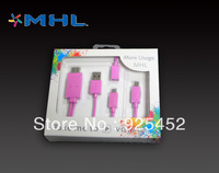 Promotion pink mhl hdmi to micro usb cable for samsung s2 s3 s4