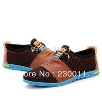 PU soft leather men casual shoes korean Fashion Lace sneaker