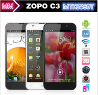 "Free Shipping ZOPO C3 Smart Mobile Phone MTK6589T Quad Core 1GB RAM 16GB ROM 5.0"" FHD Android 4.2 Smartphone 3G Black White Pink"