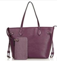 New 2014 Women leather handbags fashion Composite shopping bag women handbag brand water ripple women's shoulder /messenger bags