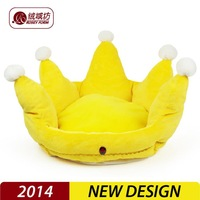 2014 New wholesale washable sleeping dog beds pet houses Royal King beds cat nest warm yellow kennel 40cm