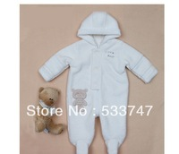 Newborn clothes thickening baby romper coral fleece long-sleeve pack baby bodysuit romper