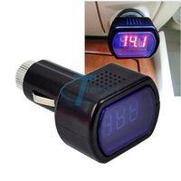 New Mini Digital Red Car Battery Meter Tester Car LCD Battery Voltage Meter Monitor DC 12V Black Free Shipping TK0024#