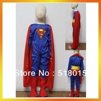 Free Shipping MOQ 1 set Child superman Costume BSCC-3292