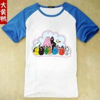Barbapapa and Barbamama Short sleeve T-shirt 100% cotton in summer   Boys and girls cartoon T-shirt baby T-shirt