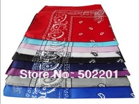 """Free Shipping Wholesale 21""""  Cotton Paisley Hip scarf Red, Yellow, Black,Blue"""