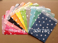 50 PCS/2 Pack Dot Pattern West Point Snack Fries Hamburger Fried Chicken Food Oil Paper Bags