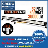 "52"" 300W Cree LED Work Working Driving Light Bar for Boat Car Truck Combo Beam SUV ATV OffRoad Fog Lamp 10V~30V"